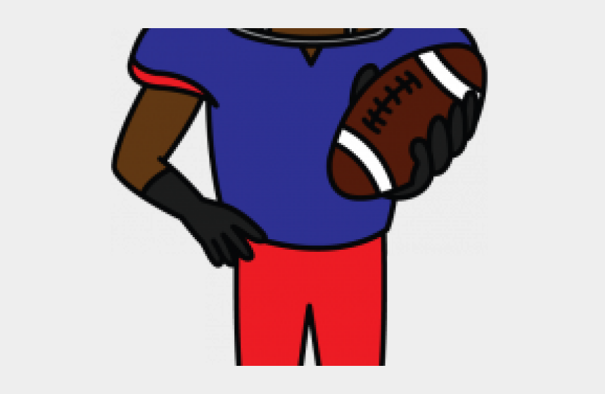 football player clipart, Cartoons - Sports Activities Clipart Simple Football Player - Draw A Football Player But Easy