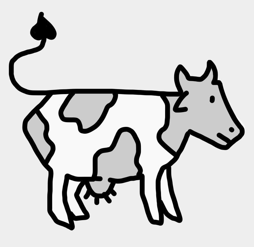 cow clipart black and white, Cartoons - Cartoon Cow Cliparts - Cattle Egret And Cattle Drawing