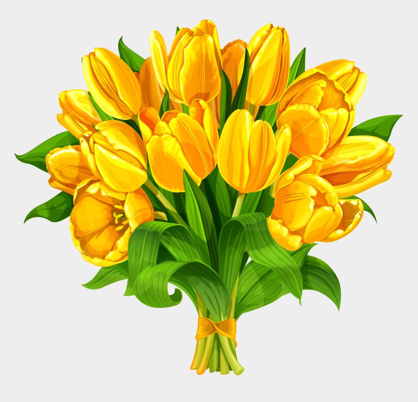 flower bouquet clipart, Cartoons - Tulip Flower Bouquet Yellow - Yellow Flowers Bouquet Clipart
