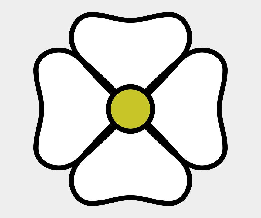 flower clipart black and white, Cartoons - White Flower Clipart White Flower Clip Art At Clker - 4 Petal Flower Clipart Black And White