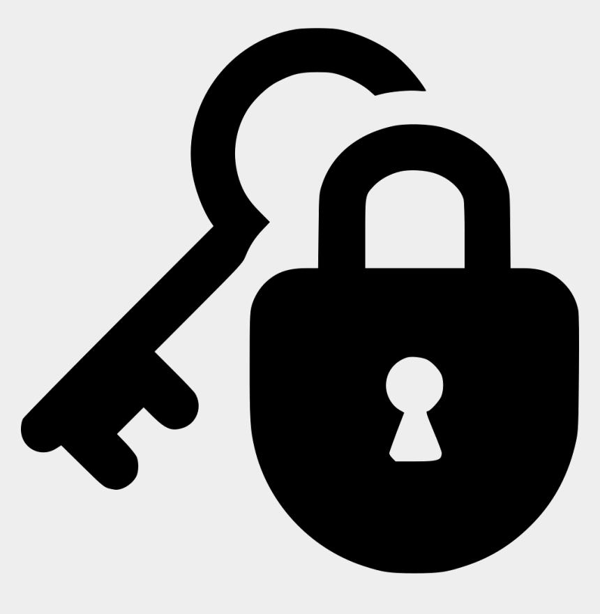 lock clipart, Cartoons - Lock Protect Guard Key Security Private Svg Png Icon - Lock And Key Icon Png