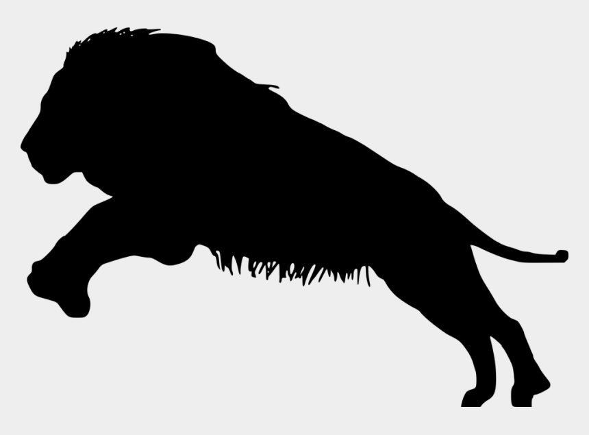 lion clipart black and white, Cartoons - Lions Vector Eyes - Black And White Lion Silhouette