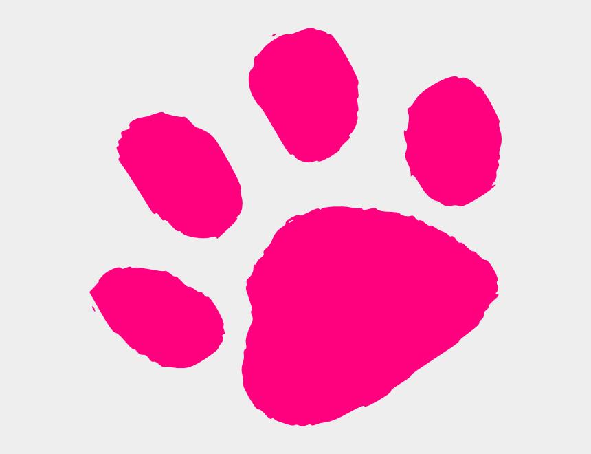 jaguar clipart, Cartoons - Jaguar Print Clipart - Pink Dog Paw Print