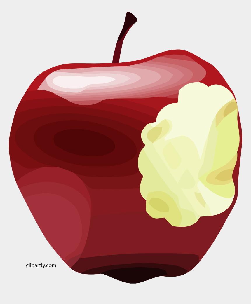 apple clipart, Cartoons - Apple Bitten Dan Gerhard Brown Apple Clipart Png - Apple With Bite Clipart