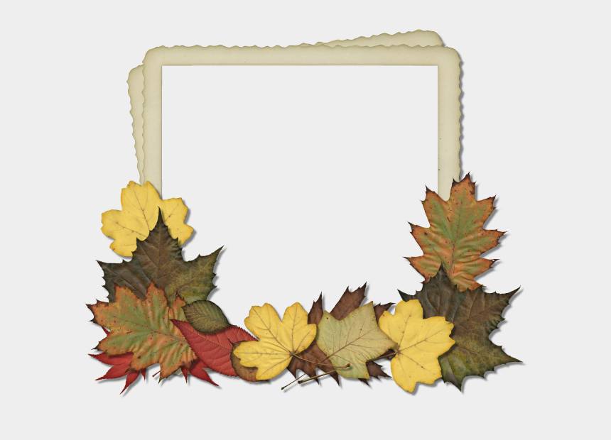 leaf clipart, Cartoons - Fall Leaves Frame Png