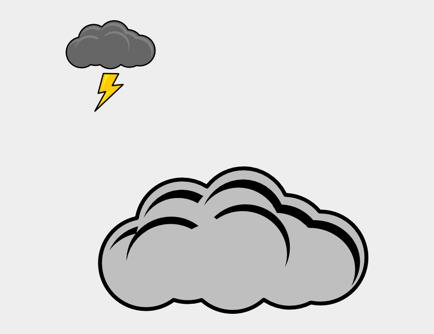 cloud clipart, Cartoons - Clouds And Thunder Clip Art