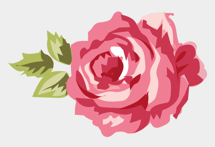 flowers clipart, Cartoons - Shabby Chic Flower Clip Art - Roses Shabby Chic Vector Png