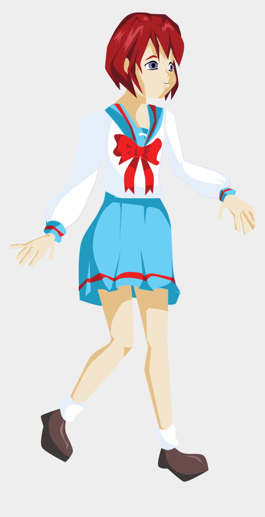girl clipart, Cartoons - Anime Png Images - Girl School Girl Png