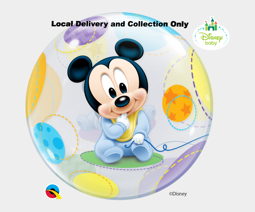 balloon clipart, Cartoons - Baby Mickey Mouse Bubble Balloon Clipart , Png Download - Baby Mickey Mouse Png
