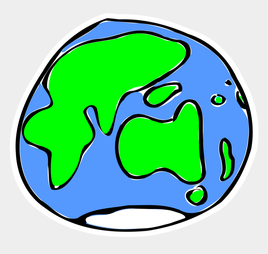 earth clipart, Cartoons - Earth Clipart Sketch - Quick Sketch Of Earth