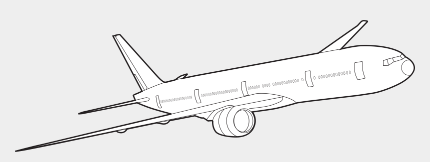 airplane clipart, Cartoons - Body Outline Png - Outline Image Of Plane