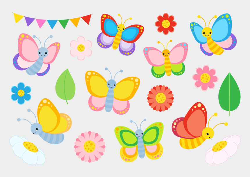 butterfly clipart, Cartoons - Boho Chic Pink Watercolor Flowers Clipart - Cute Butterfly Images Clip Art