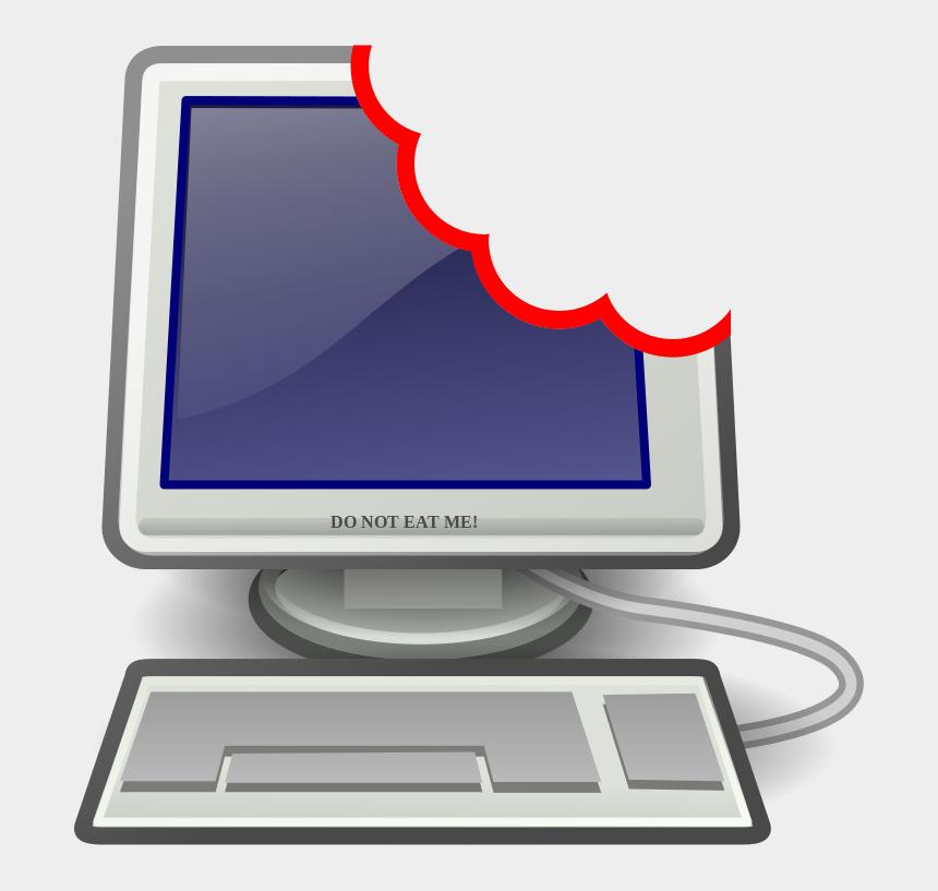 openclipart, Cartoons - Computer User Png - Computer Clipart Transparent Png