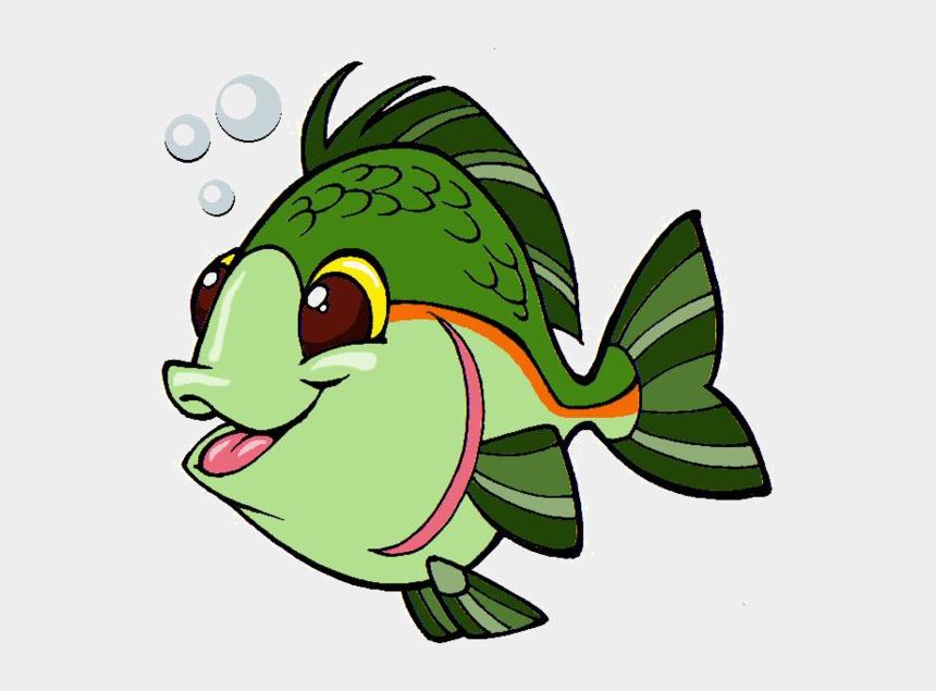 fish clipart, Cartoons - Fish Clipart Character - Green Fish Clipart