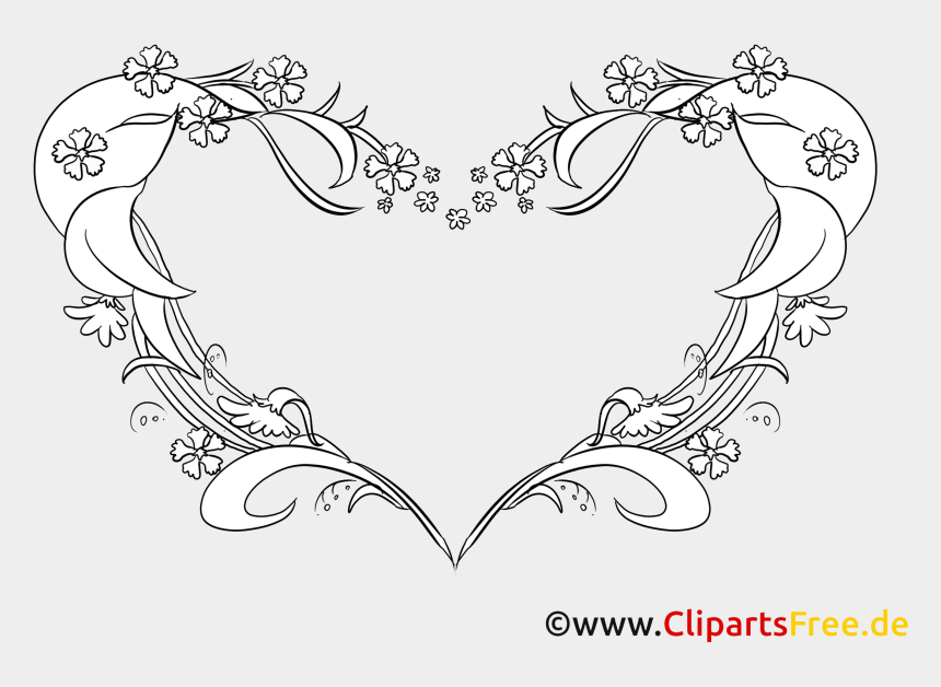 Coloriage Dessins Coeur Clipart Gratuit Line Art Cliparts