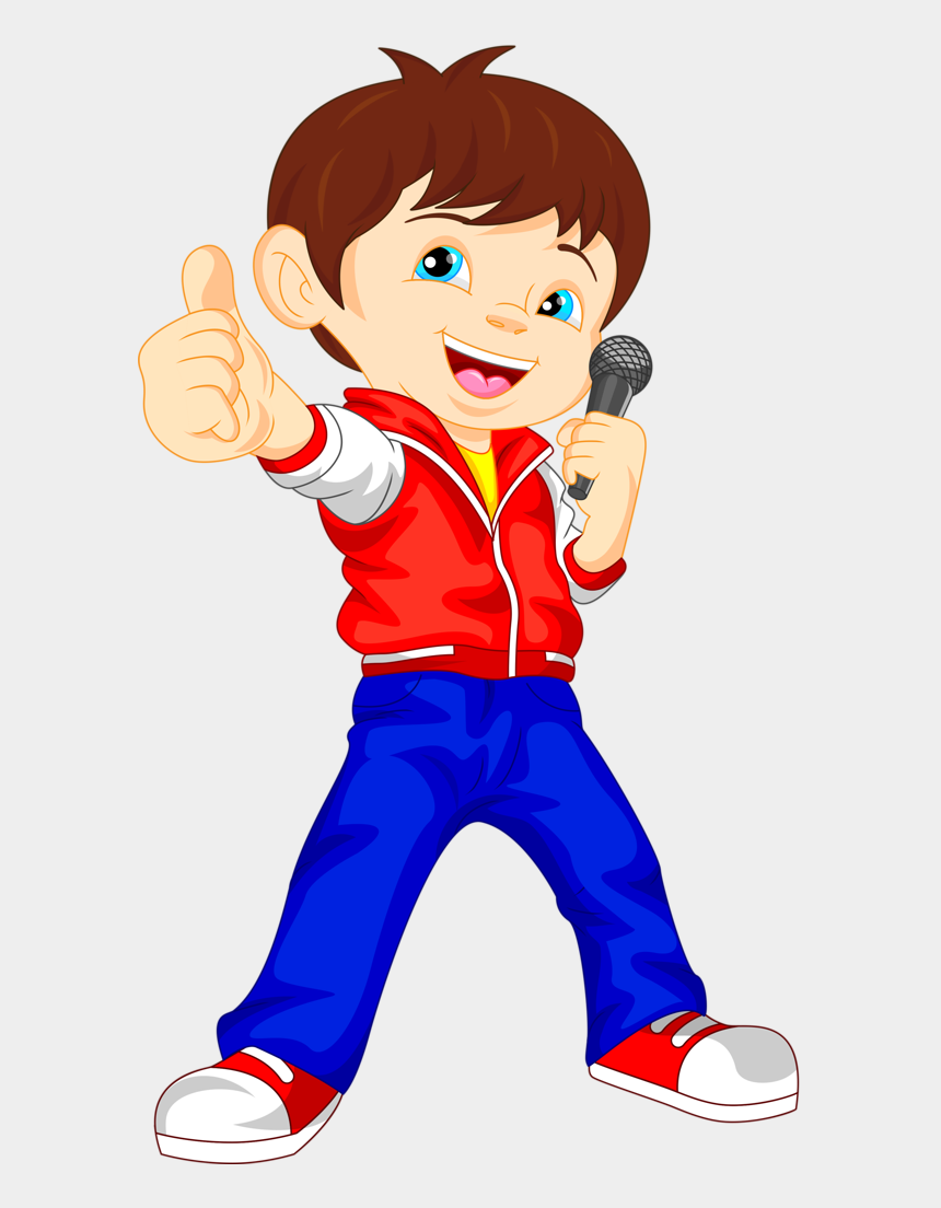 kid music clipart, Cartoons - Clipart Piano Kid - Singing Boy Clipart Png