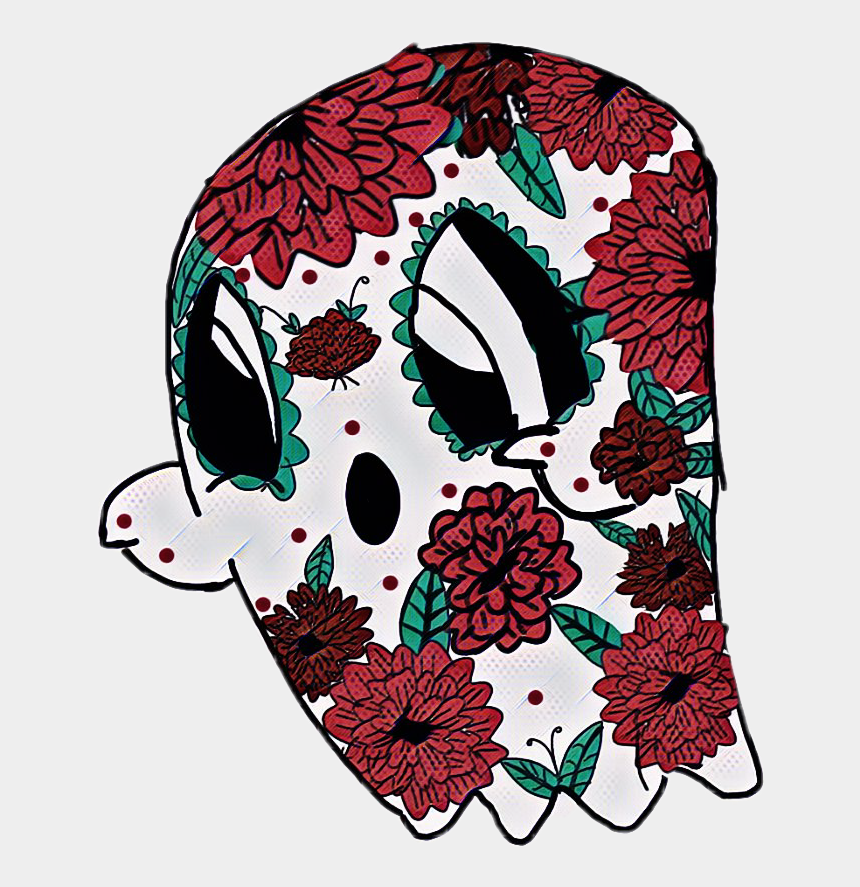 day of the dead flowers clipart, Cartoons - Day Of The Dead Ghost