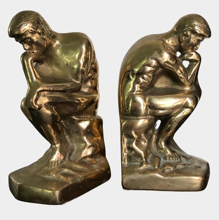 thinking man statue clipart, Cartoons - Bronze Sculpture
