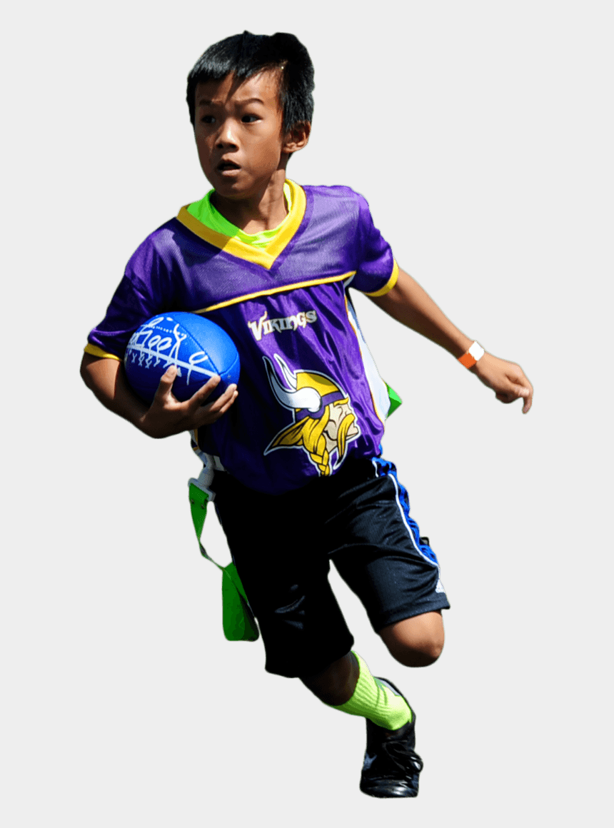 football catch clipart, Cartoons - Flag Football Player Png - Youth Playing Soccer Transparent Png