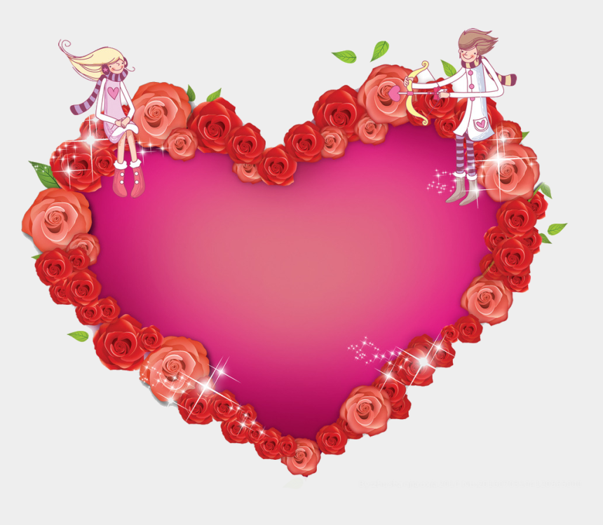 heart circle clipart, Cartoons - Heart Valentines Day - Valentine Day Frame Png