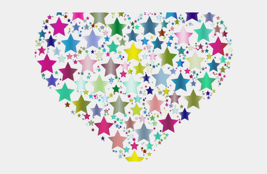 heart circle clipart, Cartoons - Heart Clipart Clipart Colorful Heart - Heart Made Of Stars Png
