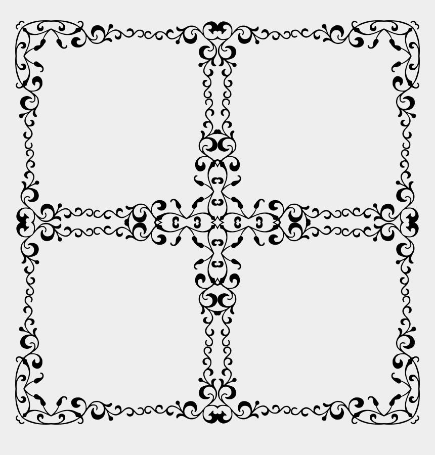 scroll cross clipart, Cartoons - Transparent Elegant Border