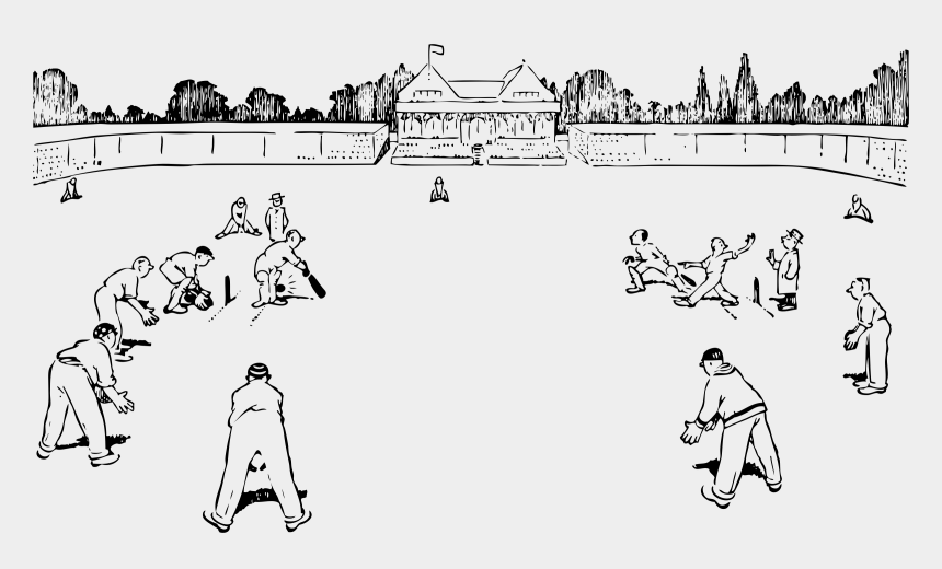 Cricket Game Sports Field Clipart Black And White Cliparts Cartoons Jing Fm