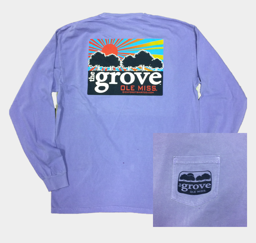 t shirt and jeans clipart, Cartoons - Comfort Color Ole Miss Long Sleeve Tee 'the Grove' - Long-sleeved T-shirt