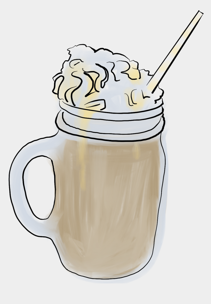 glass of milk with straw clipart, Cartoons - Affogato