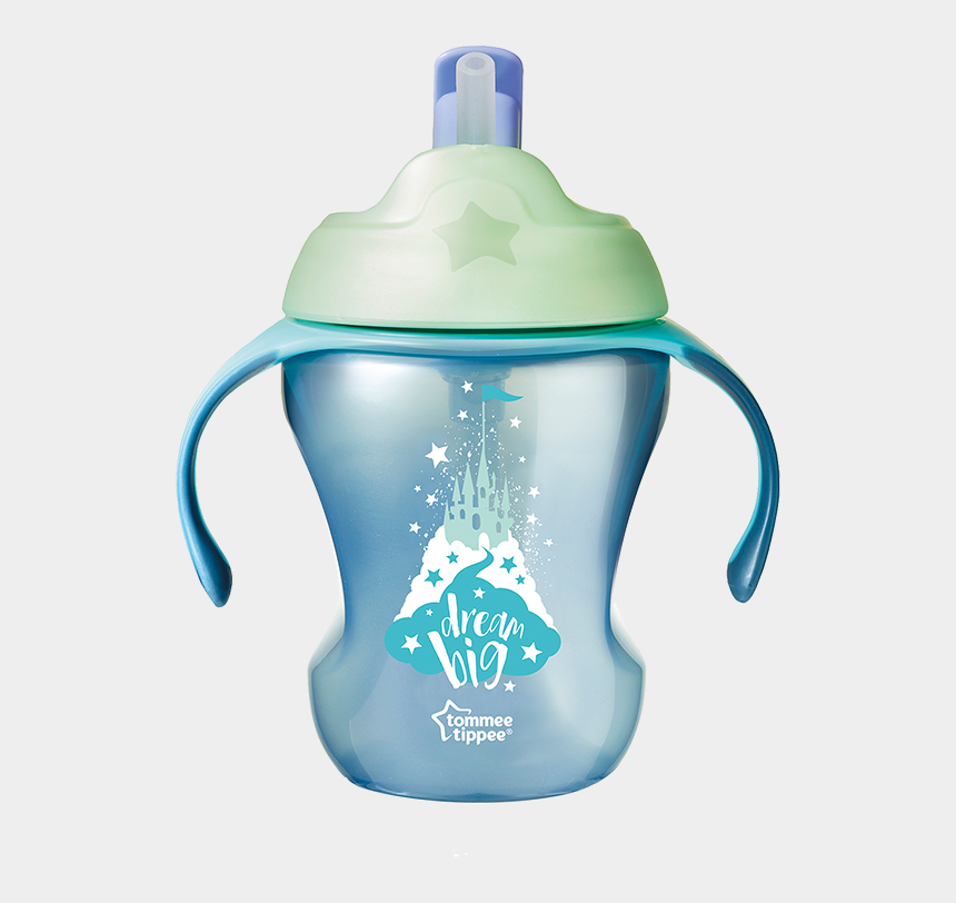 glass of milk with straw clipart, Cartoons - Trainer Straw Cup Blue - Tommee Tippee Easy Drink Straw