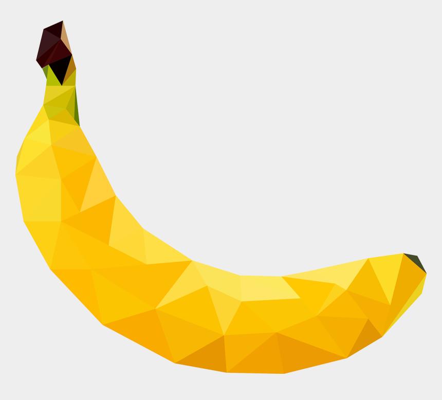 banana clipart transparent, Cartoons - Banana Vector In The Form Of Low Poly Art - Banana Graphics Png