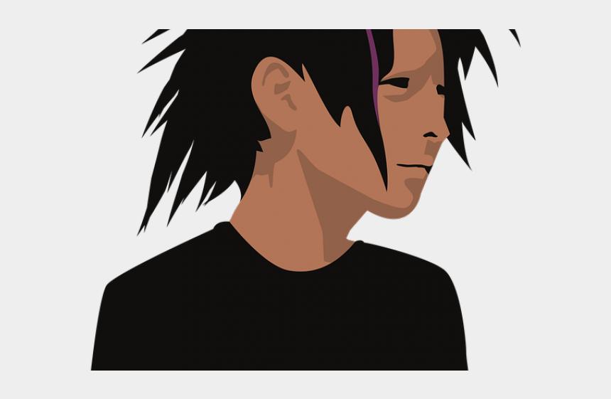 boy with brown hair clipart, Cartoons - Dark Hair Clipart Stylish Boy - Boy With Long Hair Cartoon