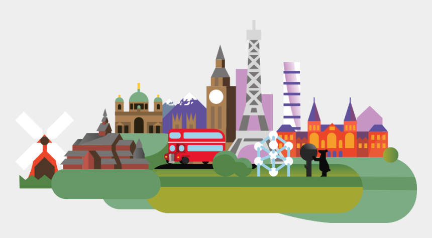 i love london clipart, Cartoons - Europe Region's Background Image - Illustration