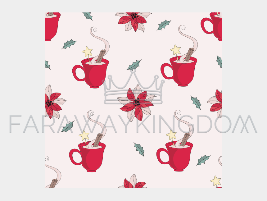 christmas coffee mug clipart, Cartoons - Christmas Mug New Year Seamless Pattern Vector Illustration - Cups Christmas Mugs Scrapbook Papers