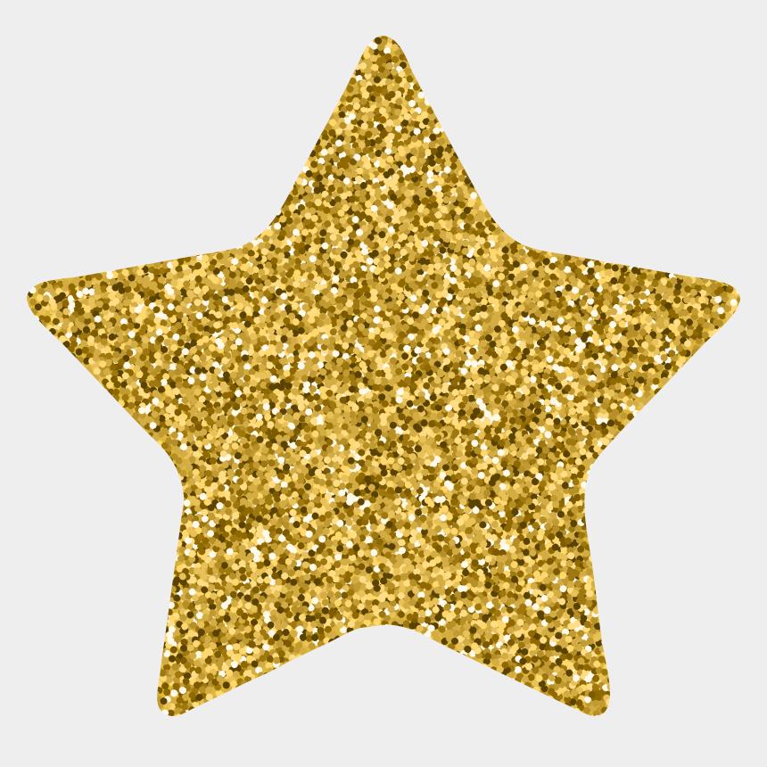 gold shooting star clipart, Cartoons - Transparent Decoration Gold Glitter
