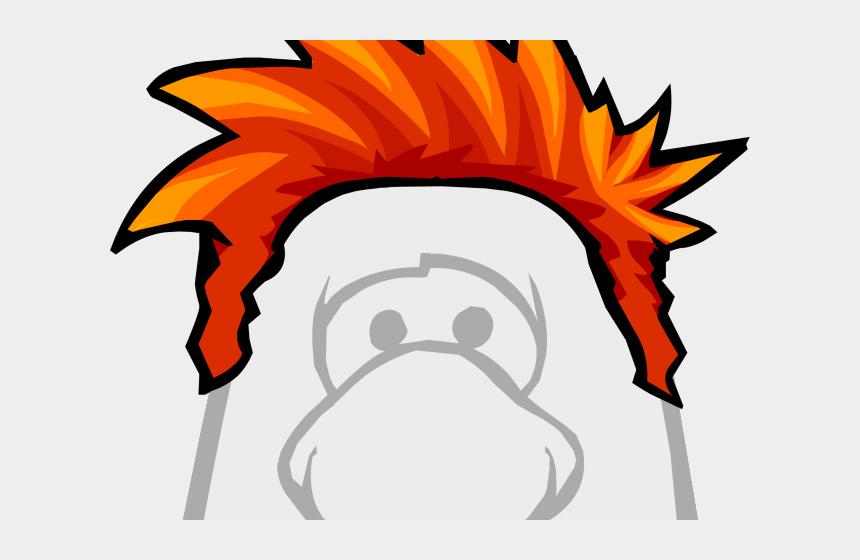 animal horn clipart, Cartoons - Red Hair Clipart Club Penguin - Club Penguin Earth Hat