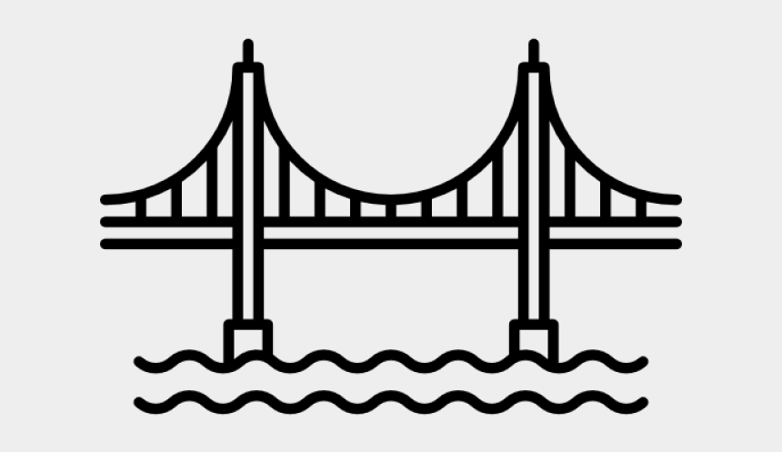 golden gate bridge clipart black and white, Cartoons - Clipart Wallpaper Blink - San Francisco Bridge Vector
