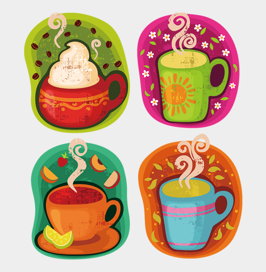 cup of juice clipart, Cartoons - Coffee Tea Chocolate Juice Hot Orange Label - Happy First Sunday Of The Month