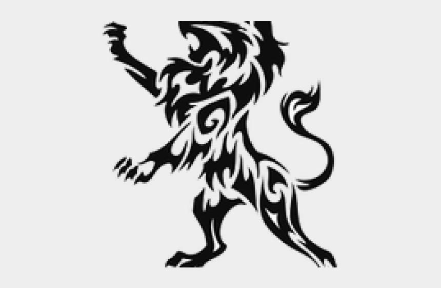 lion clipart transparent, Cartoons - Lion Tattoo Clipart Transparent - Black Tribal Lion Tattoos