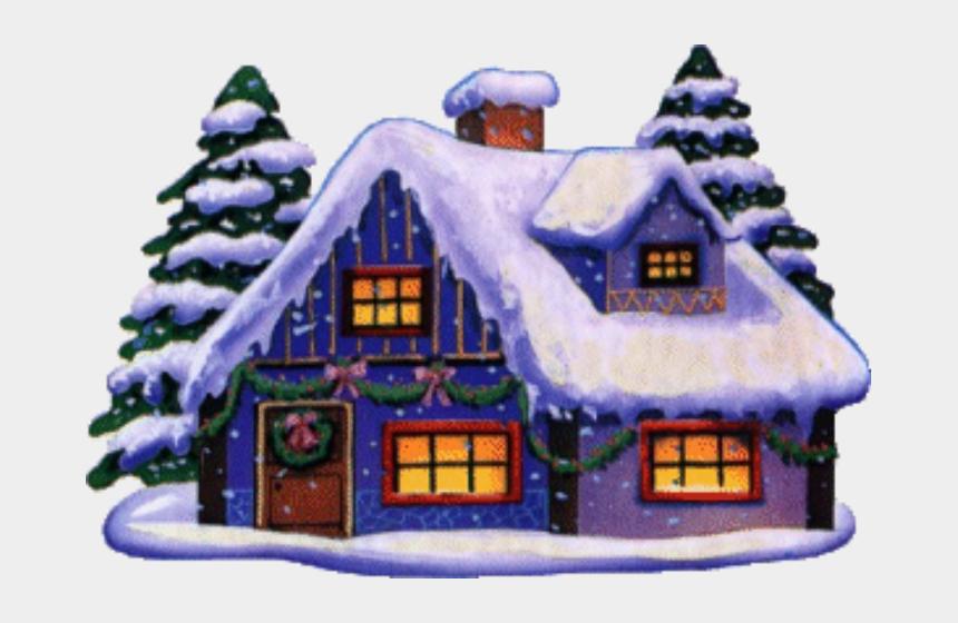 winter cottage clipart, Cartoons - Christmas House Clip Art