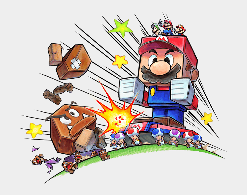 mario and luigi clipart, Cartoons - Mario Luigi Paper Jam - Mario And Luigi Paper Jam