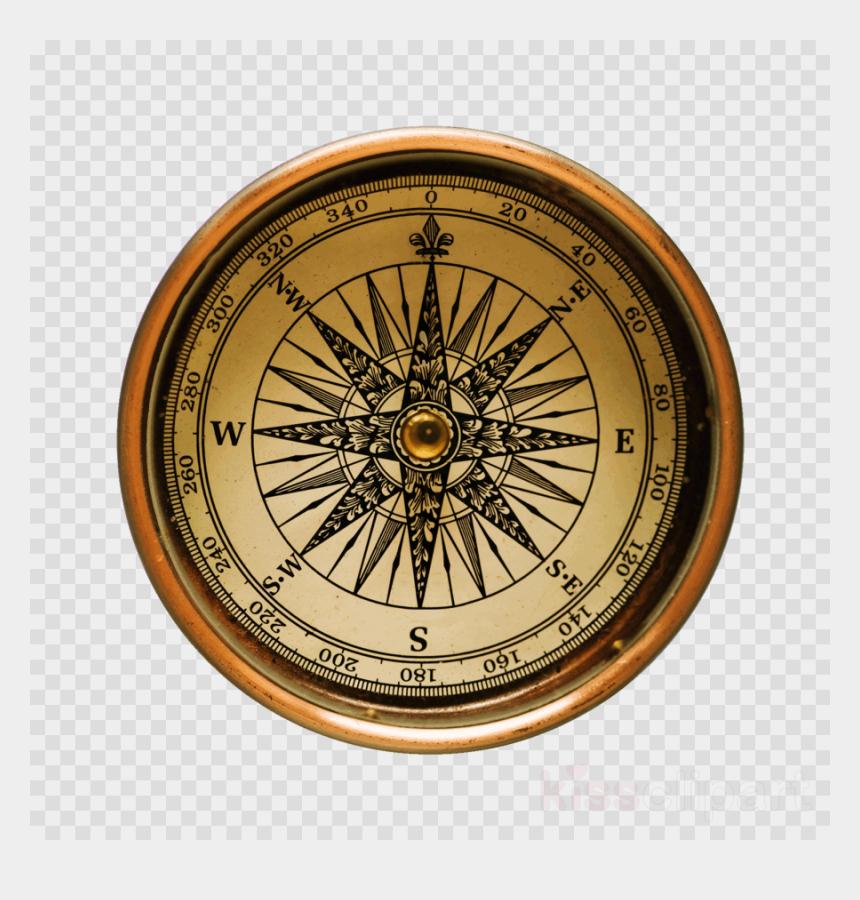 pirate compass clipart, Cartoons - Compass, Map, Metal, Transparent Png Image & Clipart - Old Compass