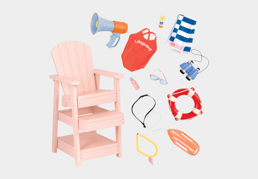 lifeguard chair clipart, Cartoons - Lifeguard Playset For 18-inch Dolls - Our Generation Muebles