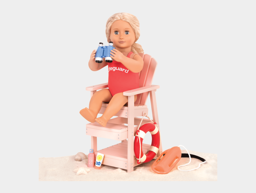 lifeguard chair clipart, Cartoons - Coral Sitting In Lifeguard Chair With Binoculars - Generation Doll Sets