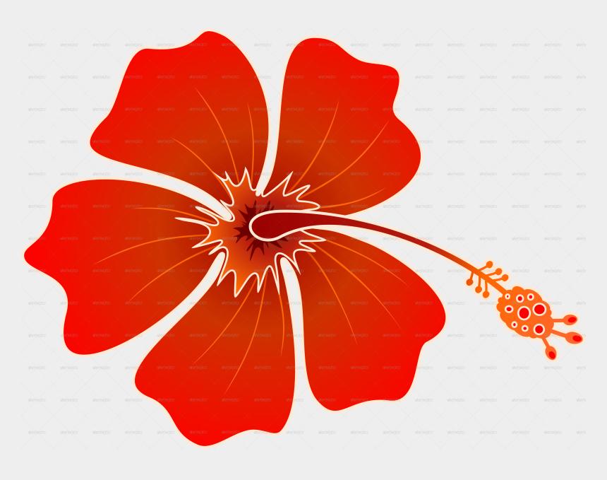 orange hibiscus clipart, Cartoons - Hummingbird And Hibiscus Batik Pattern - Orange Hawaiian Flowers Clipart