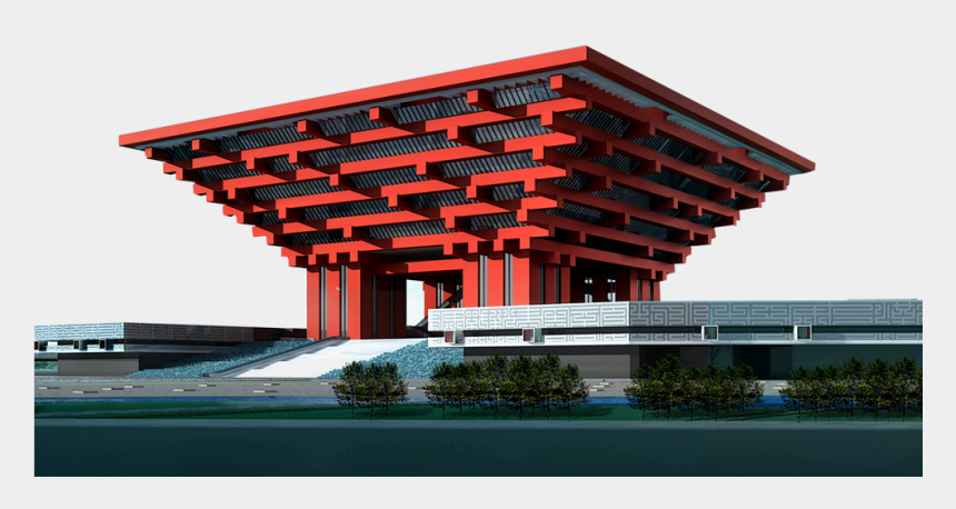 chinese building clipart, Cartoons - Red Building In China - 3ds Max Models Architecture