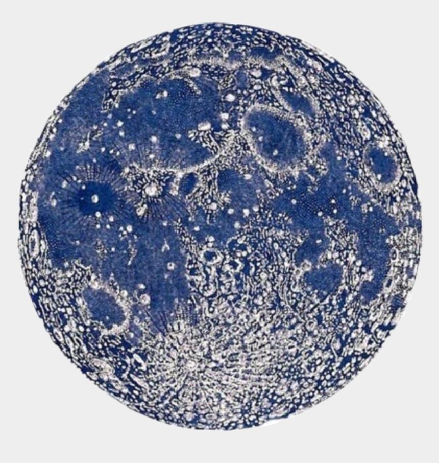 spooky moon clipart, Cartoons - #moon #blue #night #spooky #vintage #aesthetic #saimantarrat - La Luna Vintage