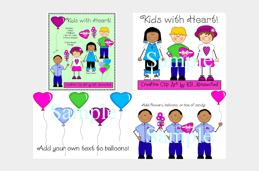 valentines day candy clipart, Cartoons - I Designed Kids With Heart Clip Art Collection For