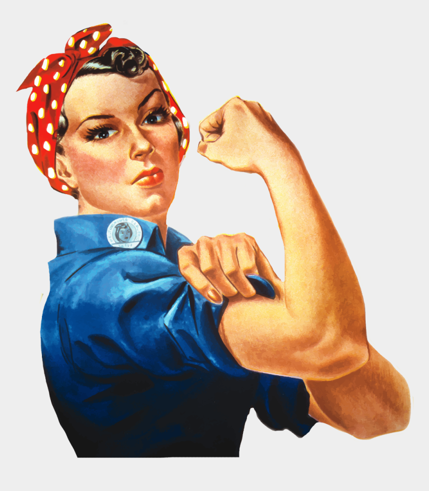 strong girl clipart, Cartoons - #strong#woman #housewife - Rosie The Riveter Png