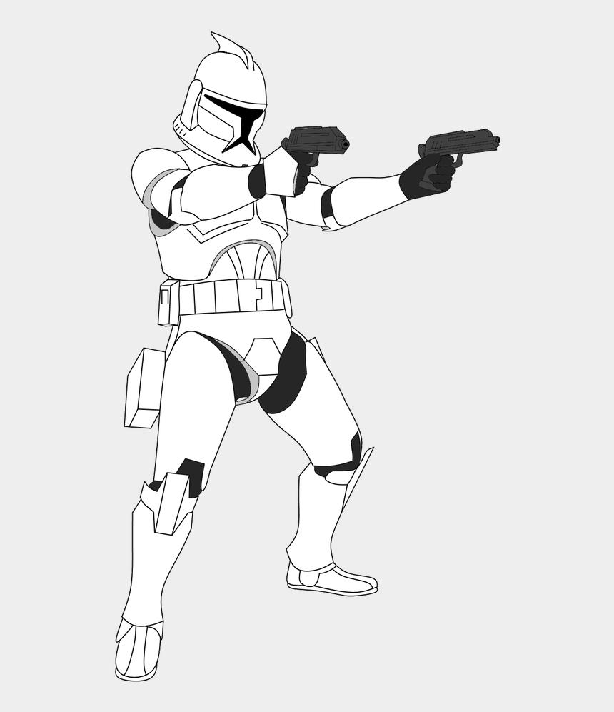 clone trooper clipart, Cartoons - Clone Trooper Science Fiction Star Wars Clone Wars, - Draw Star Wars Clone Trooper